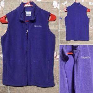 Columbia - Sz M(10/12 yrs) fleece vest soft purple